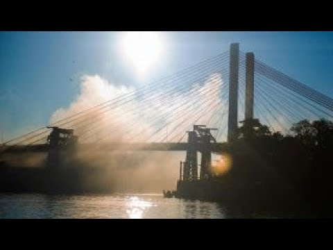 New York City bridge explodes in controlled demolition