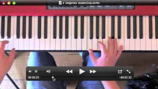 Piano improvisation detailed walkthrough