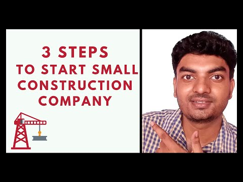 Construction Business    3 Steps To Start Small Construction Company