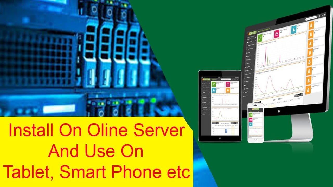 Install Smart School Management System on Online Server