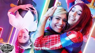 SPIDER-MAN: Spider-Verse Stunts, Flips, Tricks, in Real Life Obstacle Course - The Sean Ward Show