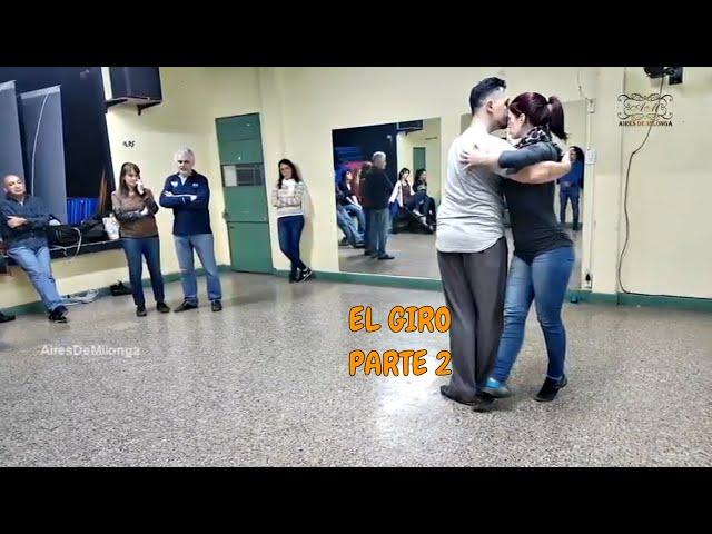 Como es el giro en el baile social del tango 2 Buenos Aires. Antonela Mendez, Raul Moure