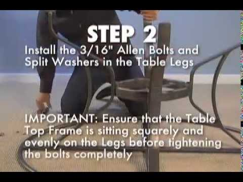Tropitone® How To   Assemble A KD Table