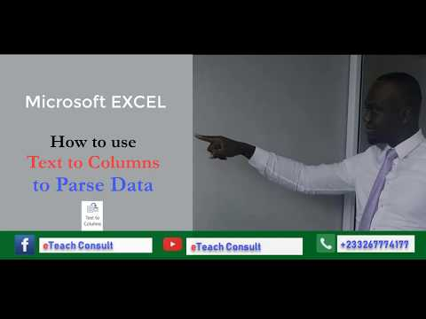 How to use Text to Columns to Parse Data in Excel