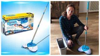 Чудо-веник Hurricane Spin Broom для уборки обзор / Механический веник