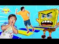 Ryan and Daddy Escape Fake Spongebob Obby in Roblox! Let's Play