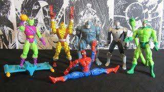 Человек Паук 1994 Волна 3 Распаковка и обзор фигурок фирмы Toy Biz Марвел