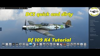 DCS Quick & Dirty - Bf 109 K4 start-up, taxi, take-off and landing Tutorial VR