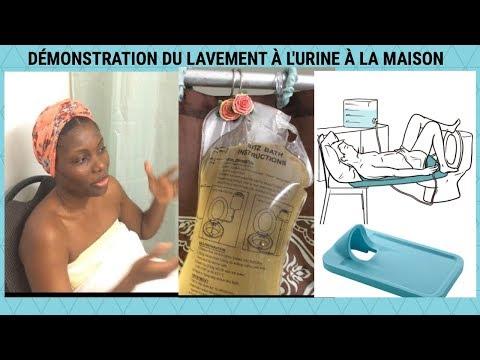 urine trouble démonstration de comment faire le lavement à l