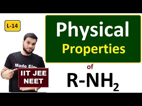 (L-14) Amine Physical Properties || 12th Organic || JEE NEET || By Arvind Arora