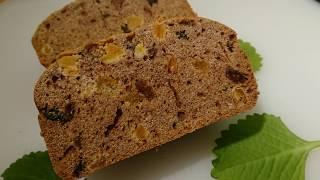 Кекс в хлебопечке KENWOOD с сухофруктами и куркумой. Эп.№120