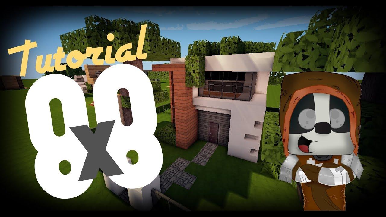 minecraft como hacer una casa moderna 8x8 10 youtube