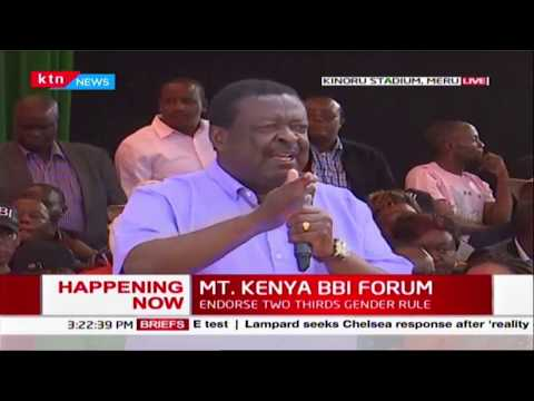 Mudavadi commends Uhuru\'s recent action in regards to Coronavirus MT. KENYA BBI FORUM