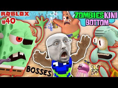 ROBLOX ZOMBIESKINI BOTTOM BOSSES! Spongebob, Squidward, Patrick Star Zombosses vs FGTEEV (pt2) #40