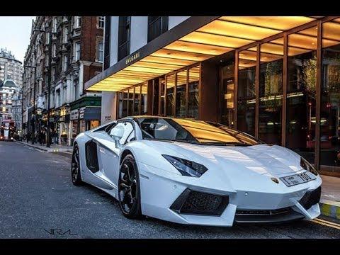 pearl white arab lamborghini aventador roadster hits london - Lamborghini Aventador Roadster White