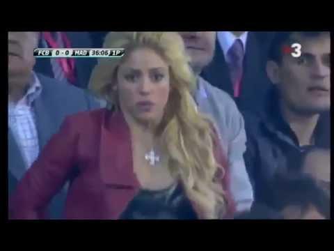 "Shakira viendo el gol de Cristiano Ronaldo ""final de copa"""