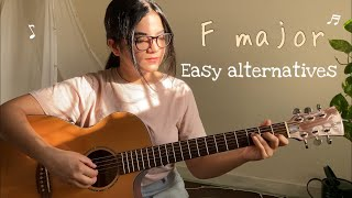 2 Easy F MaĴor Chord Alternatives | Play these Chords if You Can't Play F Major Chord