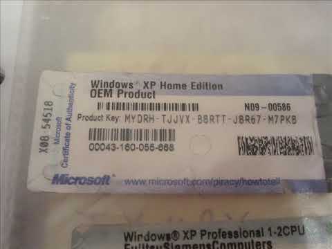 windows xp home edition product key - social.microsoft.com