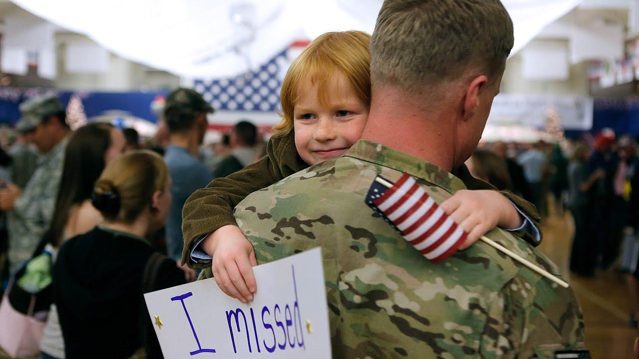 Soldier Come Back Home Surprise