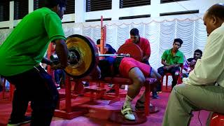 Rajesh Kumar PMR image fitness senior national record bench press 207.5