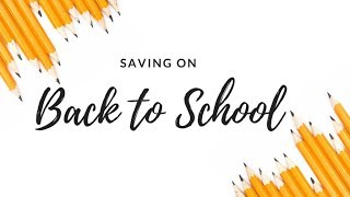 Shopping Back to School Supply Sales + Live Q&A