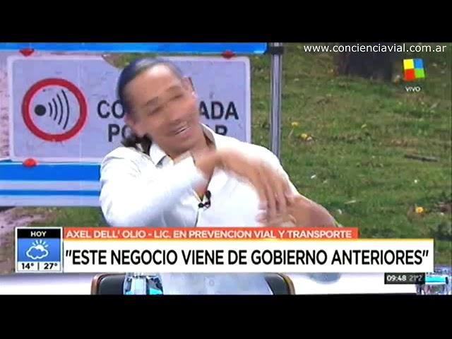 Axel Dell' Olio explica las fotomultas truchas y legales (América TV, 2018)