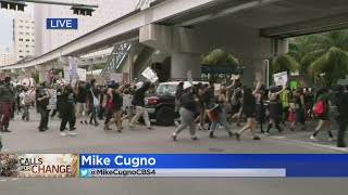 Protest Held In Downtown Miami