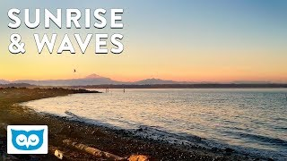 Beautiful Sunrise with Crashing Wave Sounds - NO LOOP - 30 Minutes Nature Relaxation