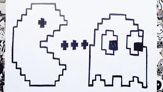Como dibujar a pacman en pixeles | how to draw pac man