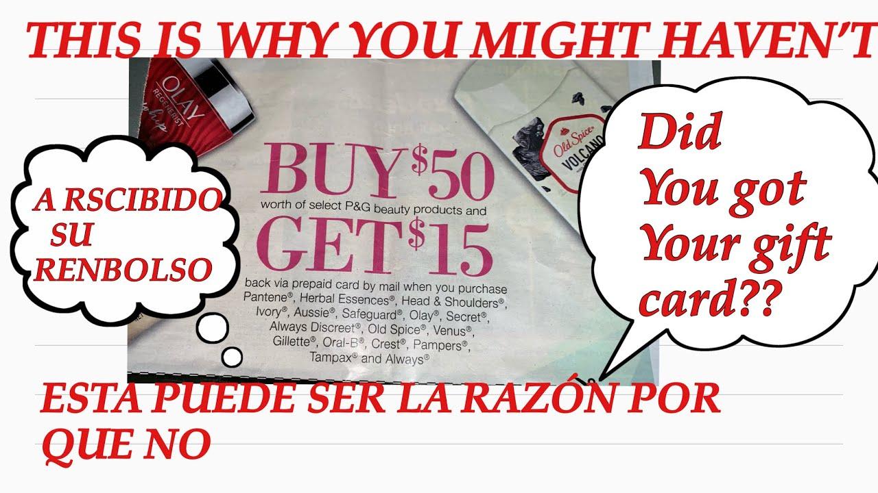 DID YOU GOT P&G REBATE FROM LAST YEAR🤷♀️?RECIBIO USTED SU RENBOLSO D P&G  DEL AÑO PASADO 🤷♀️?