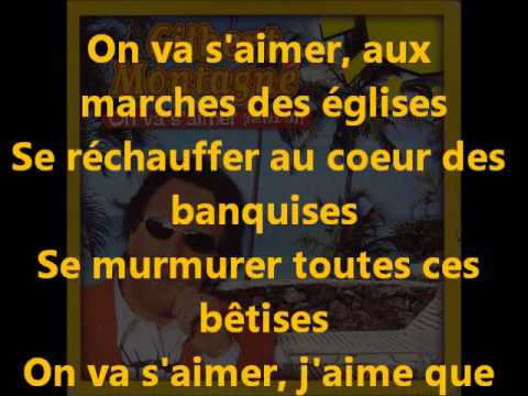 GILBERT MONTAGNE - on va s'aimer (+ paroles)