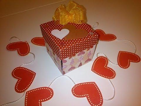 Tarjeta enamorados cajita regalo san valent n youtube - Sorpresas para enamorados ...