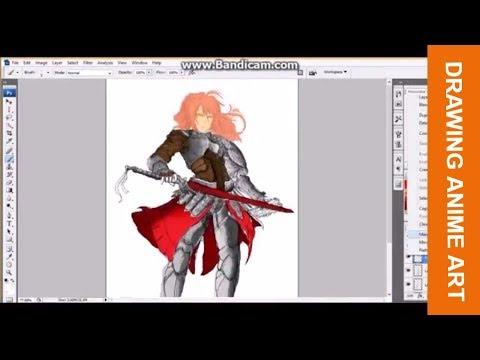 Cara Mewarnai Gambar Komik Di Photoshop Drawing Anime In Photoshop