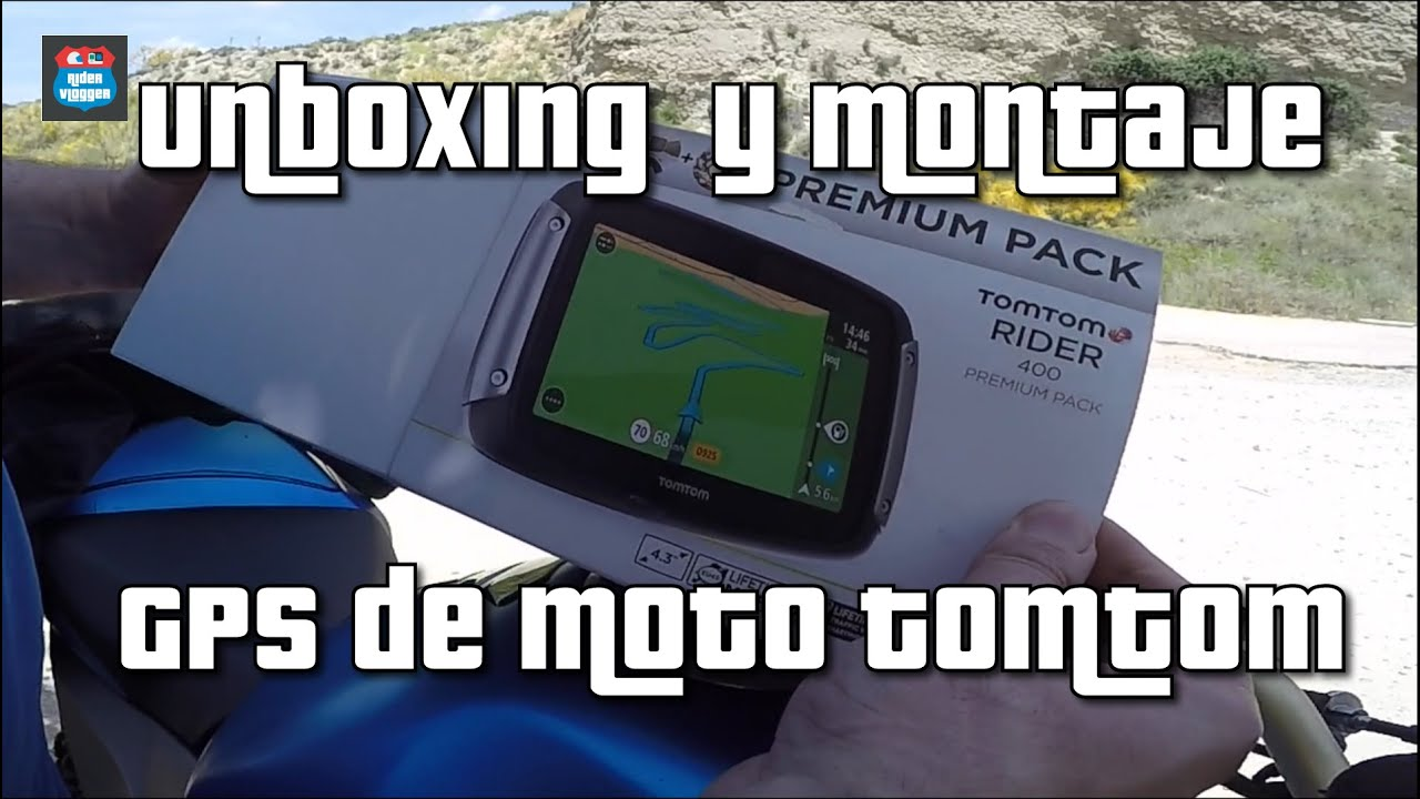 unboxing y tutorial de montaje gps moto tomtom motovlog. Black Bedroom Furniture Sets. Home Design Ideas