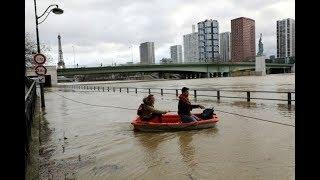 Orage a Paris. Innondation