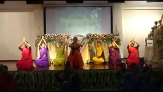 kathak dance choreography  by DR. ANJANA JHA  with THAI  student,s