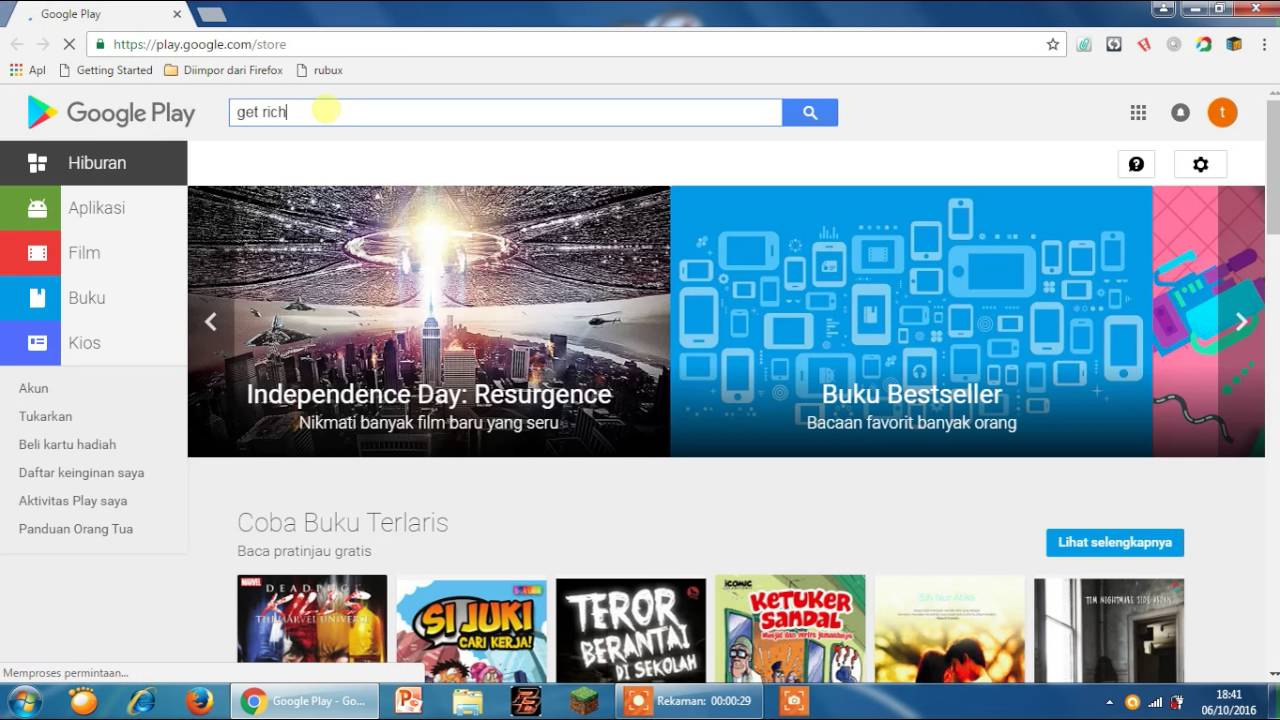 cara mendownload game,aplikasi di laptop - YouTube