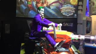 Sally unveils Joker animatronic for Six Flags Justice League dark ride at IAAPA 2014