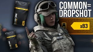 "Alpha Pack Opening, but for every ""common"" I show a dropshot."