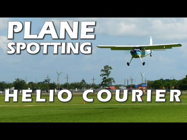 Plane Spotting Plane Watching - Helio Courier - Airport Landings
