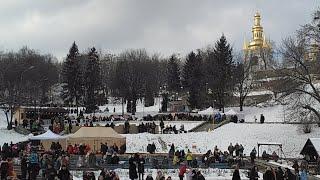 Масленница и Рыцарские Бои на Спивочем Поле 2018 в Киеве, Украина