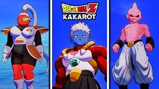 Dragon Ball Z Kakarot - Playable Bosses & Villains Free Roam & Attacks Gameplay (Debug ONLY)