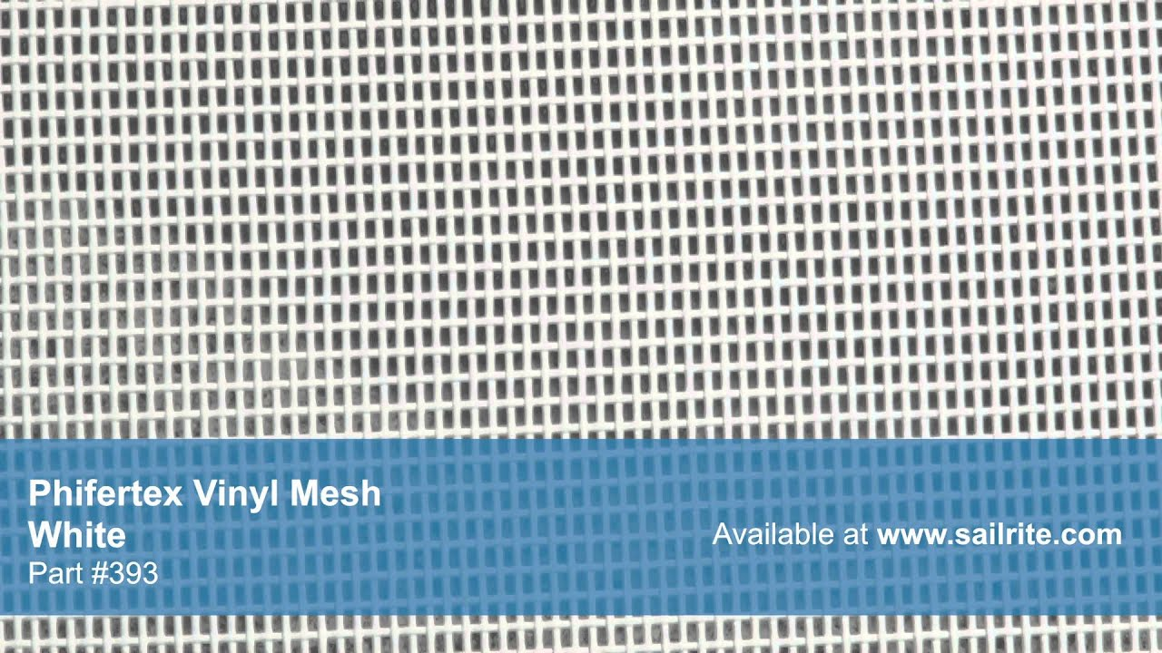 Video Of Phifertex Mesh White 393 Vinyl Mesh Fabric
