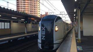 【なりたえくすぷれす】E259系 特急 成田エクスプレス@西大井駅(通過)
