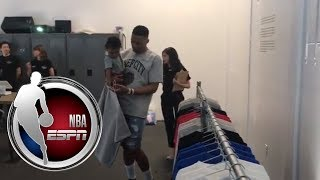 Russell Westbrook debuts new