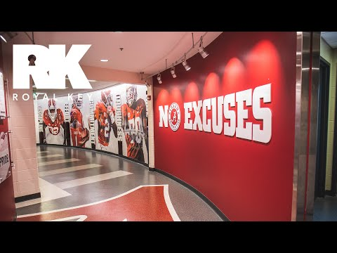 We Toured The ALABAMA CRIMSON TIDE'S MASSIVE FOOTBALL Facility & Equipment Room | Royal Key
