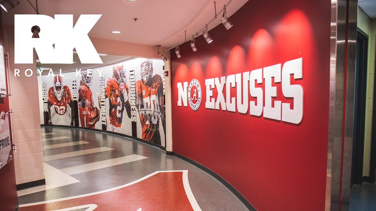 We Toured Alabama's MASSIVE Football Facility & Sneaker Equipment Room | Royal Key