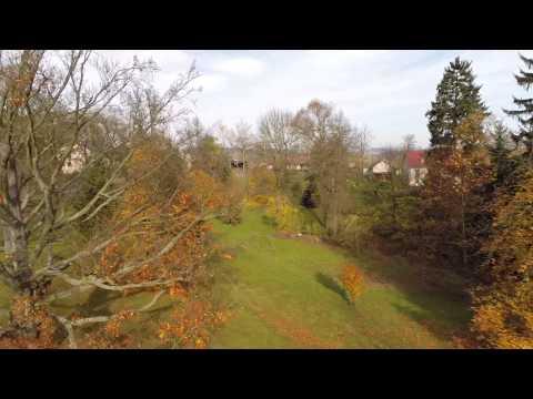 Arboretum Žampach - dolní park - Domov pod hradem Žampach - letecké prohlídky