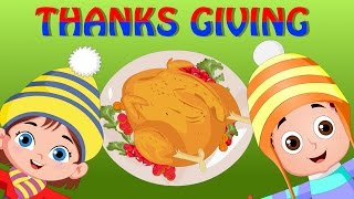 Thanksgiving Song | Nursery Rhymes for Kids and Children | Turkey