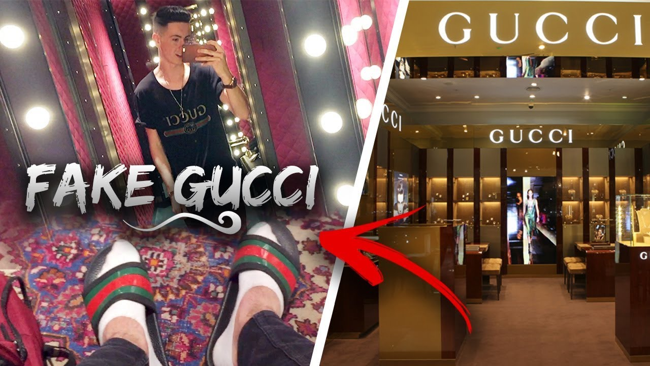 9b711e1b09a WEARING FAKE GUCCI TO THE GUCCI STORE - YouTube